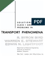 SOLUTION to Transport Phenomena