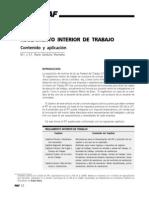 Reglamento interior de trabajo. Contenido y aplicación