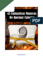 45 Maneras de Quemar Calorias