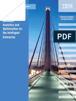 Business Analytics and Optimization for the Intelligent Enterprise