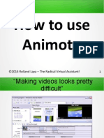 How to use Animoto.