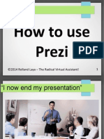 How to use Prezi.