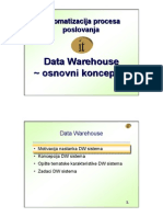 Data Warehouse osnovni koncepti