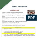 GYMNASTICS LEARNING CUES. DESCRIPTION 3º ESO