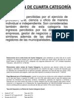RETENCIÓN DE CUARTA CATEGORÍA