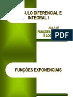 CDI I - Aula 07 - Derivadas - Funções Exponencial e Logarítmica