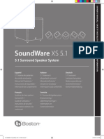 Boston Acoustics SoundWareXS 51 Manual