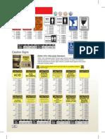 Specialty & Custom signs Catalog 2012