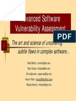 Advanced Software Vulnerability Assessment