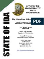 Idaho State Rule Draft Manual