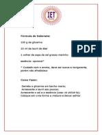 Fórmula do Sabonete