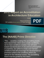 2012 Report on Accreditation in Architecture Education