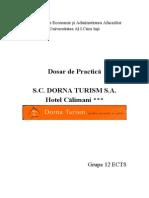 Dosar de Practica - S.C. Dorna Turism S.a. - Hotel Calimani
