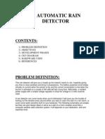 Automatic Rain Detector Synopsis