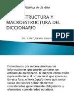 Macro y Microestructura Del Diccionario