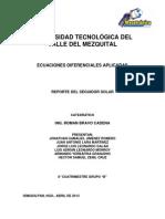 Reporte Del Seguidor Solar
