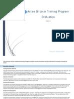 project iii active shooter training program evaluation tonya schauwecker