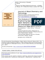 2011 the Analysis of Optical Brightening Agents in Paper Samples Using Liquid Chromatography With High-Resolution Mass Spectrometry
