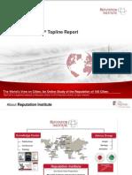 2013 City RepTrak Topline Report