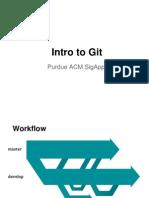Purdue ACM SigApp Intro to Git