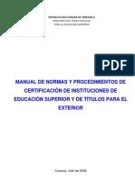 Certificacion Titulos Exterior