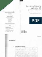 La Critica Literaria Del Siglo Xx y 50 Modelos