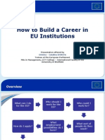 Career in EU Institutions
