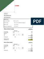Build Up Rate Format - Precast Concrete