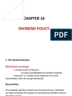 Chapter 16-Dividend Policy