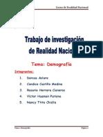 Realidad Nacional Monografia