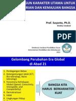 1 Membangun Karakter Utama Untuk Kemandirian Dan Kemajuan Bangsa, 20-1-2012