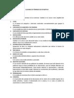 GLOSARIO DE TÉRMINOS DE ESTADÍSTICA