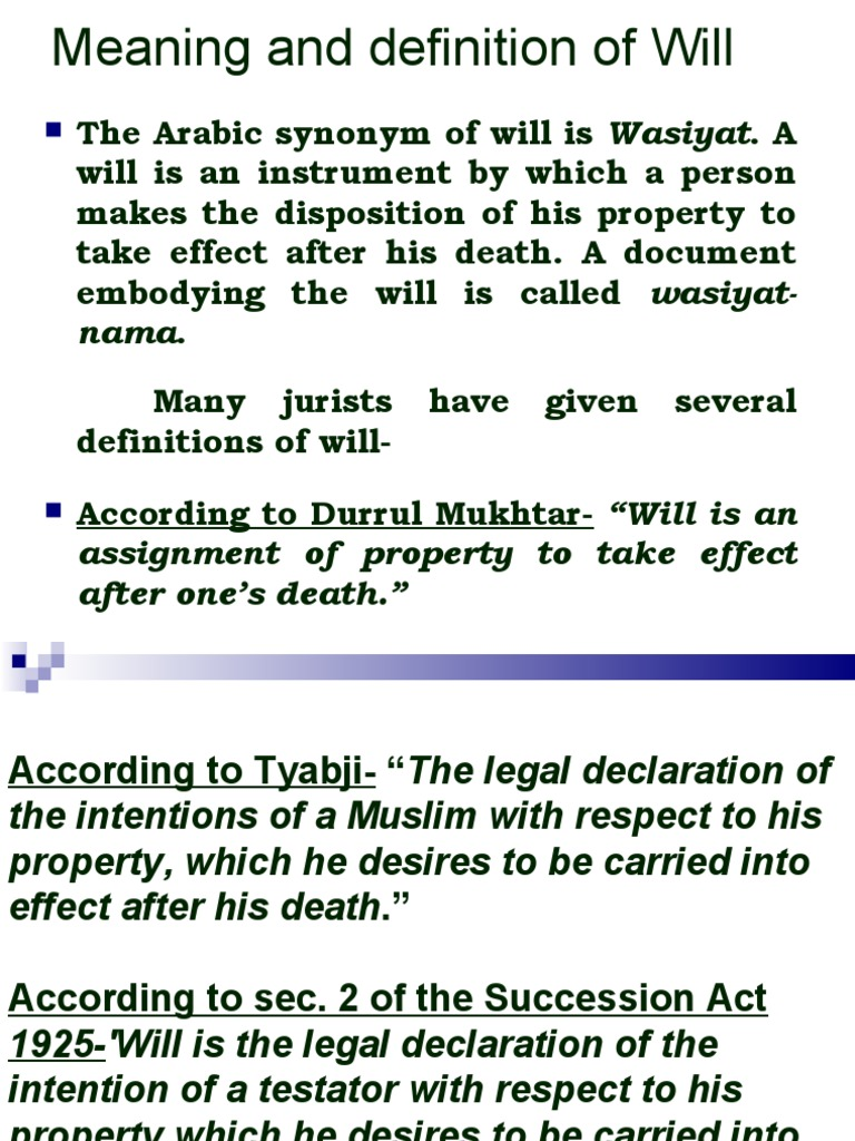 will | will and testament | property law