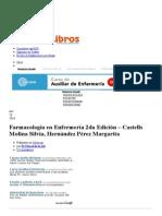 Farmacología en Enfermería 2da Edición – Castells Molina Silvia, Hernández Pérez Margarita_Portal de Libros