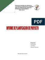 Planificacion de Proyectos Informe