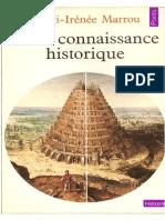 Henri-Irenee Marrou De La Connaissance Historique 1954