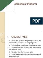 13. Calibration of Platform Scale