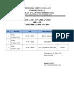 Jadwal TDS 2013
