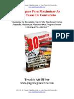 30 Truques Para Maximar As Taxas De Conversão