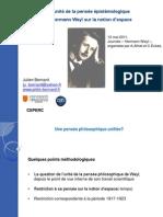 L'unité de la pensée épistémologiqued'Hermann Weyl sur la notion d'espace - admin