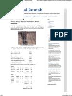 Analisa Harga Satuan Pembesian Beton Bertulang _ Material Rumah