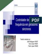 reguladores primária de velocidade geradores sincronos UFF