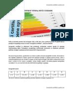 Energetski Certifikat Stana, Kuce i Zgrade