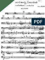 Nino Rota-Divertimento Concertante, Contrabajo