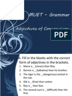 Muet - Adjectives of Comparison1