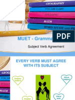 MUET Grammar - Subject Verb Agreement