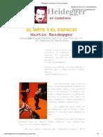 Heidegger en Castellano - El Arte y El Espacio