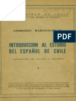 151 - Introducción al estudio del español de Chile