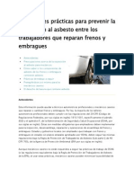 Las mejores prácticas para prevenir la exposición al asbesto entre los trabajadores que reparan frenos y embragues
