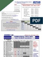 YARTS Bus Schedule
